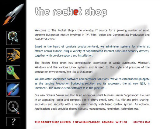 historic web page